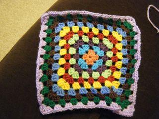 Granny square table cloth - part 2 (2)