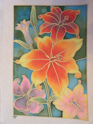 S&C - Silk painting flowers