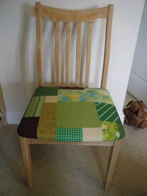 Upcycled chair after