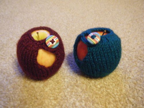 Knitted apple jackets