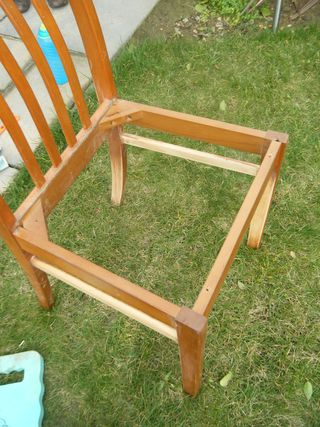 Kitchen chair - mid sanding