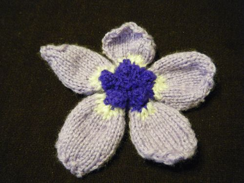 Knitted flower - Anemone