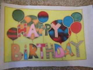 S&C - Silk painting happy birthday