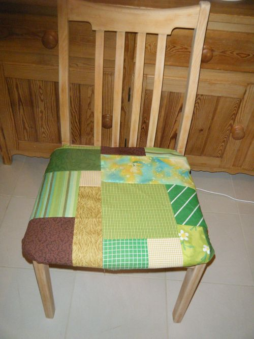 Patchwork kitchen chair - finished