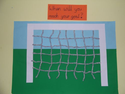Crotched football goal finished