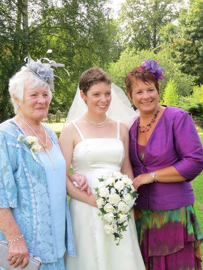 Wedding - Mum, Grandma, Me