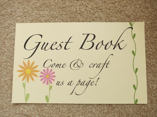 Instructions for guestbook