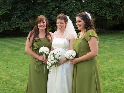 Wedding - me, Becka, Kirsty