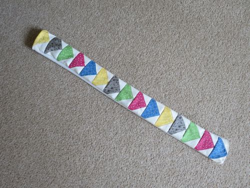 Patchwork camera strap cover step 08