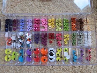 Super organised button tray