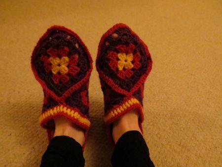 Crochet slippers (1)