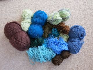 Wool selection for draft excluder