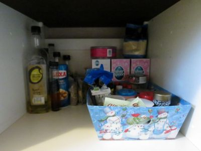 Re-organising kitchen cupboards (5)