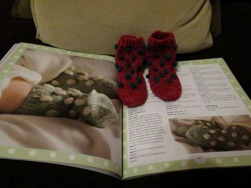 Baby bobbly socks finished