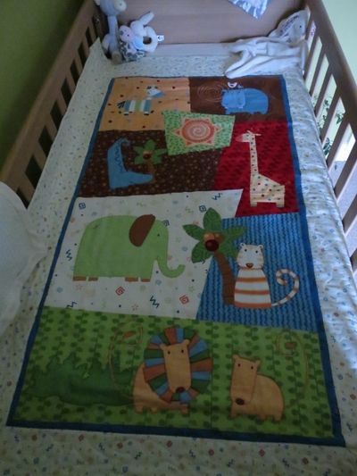 Nursery finishing touches - cot quilt