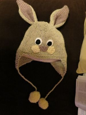 Knitting rabbit hat continued (7)