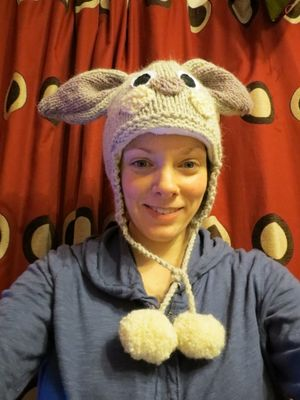 Knitting rabbit hat continued (6)
