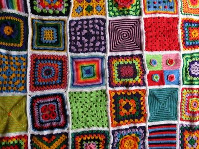 Crochet square blanket - without border (3) (600x800)