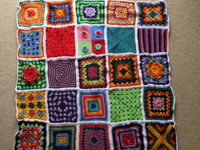 Crochet square blanket - without border (4) (800x600)