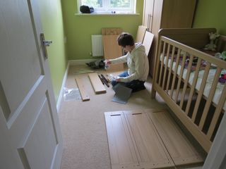 Building nursery changing table