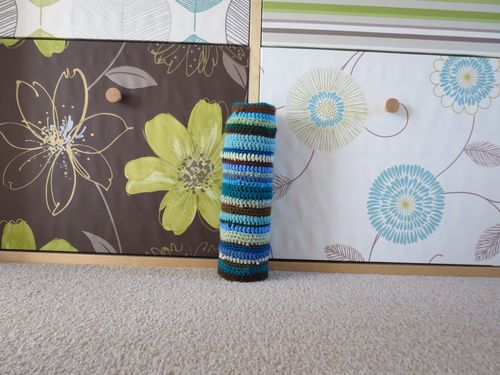 Start of crochet draft excluder