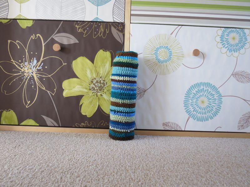 Start of crochet draft excluder