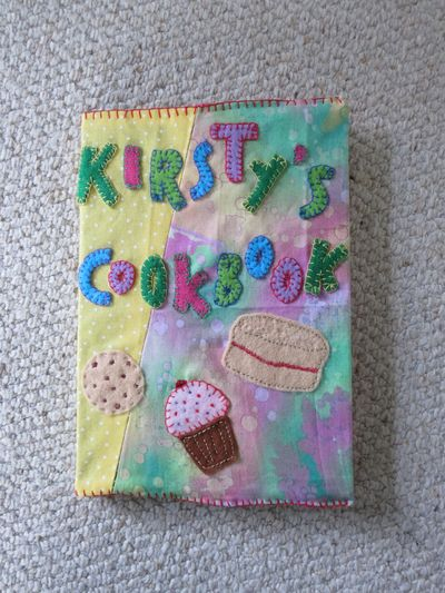 Hand sewn book cover - front