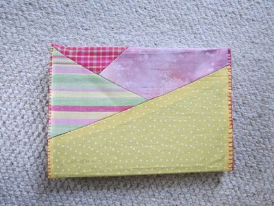 Hand sewn book cover - back