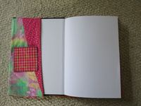 Hand sewn book cover - inside 1