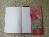 Hand sewn book cover - inside