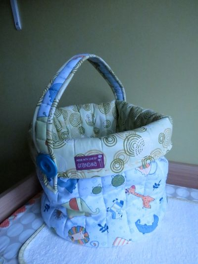 Nursery finishing touches - nappy changing bag