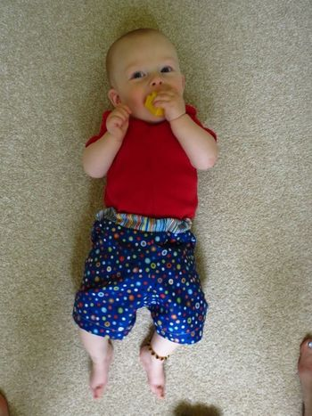 Baby R in his shorts (5)