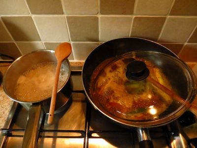 Cooking dahl curry (2)