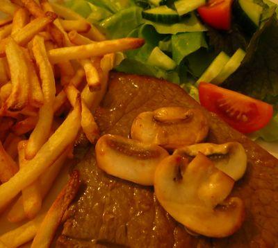 Steak and chips for dinner