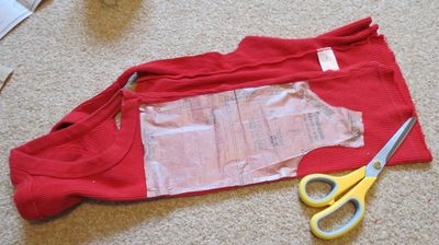 Upcycling - baby t-shirt from a t-shirt (4)