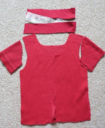 Upcycling - baby t-shirt from a t-shirt (5)