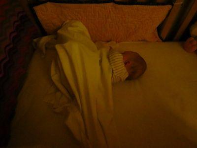 Baby R sleeping in his nursery (2)