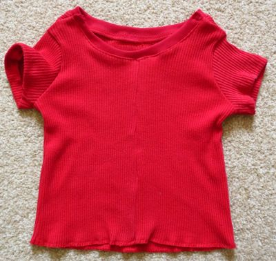 Upcycling - baby t-shirt from a t-shirt (10)