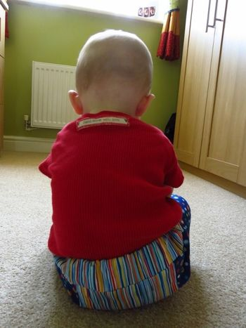 Baby R in his shorts (1)