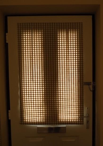 Making A Front Door Blind 24