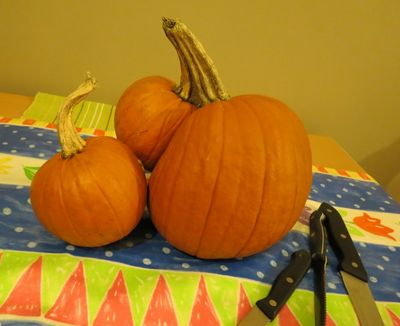 Carving our Pumpkins (1)