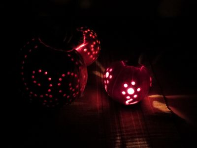 Carving our Pumpkins (12)
