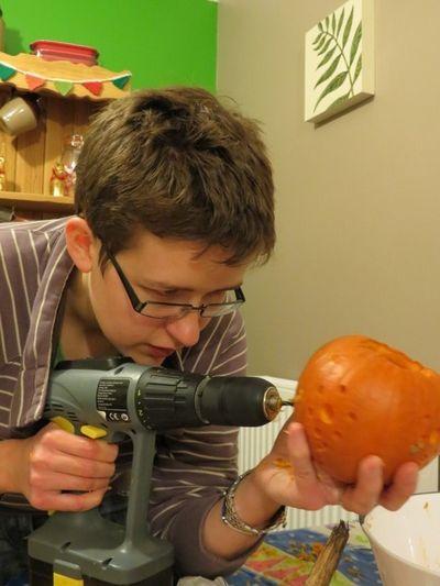Carving our Pumpkins (8)