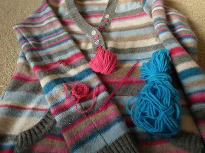 Repair - crochet elbow patch (2)