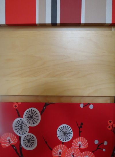 Wallpapering chest of drawers (6)