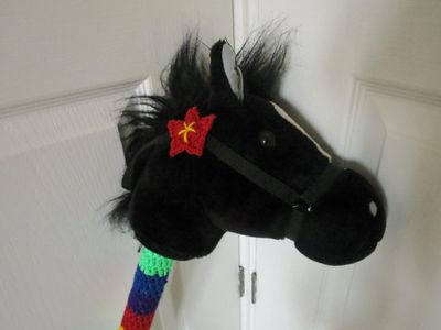 Crochet decoration on a hobby horse (7)