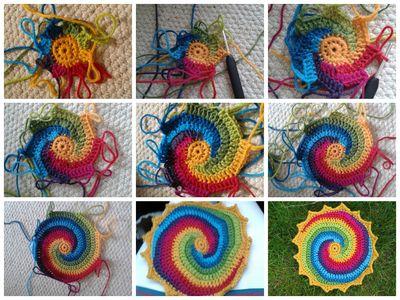 Rainbow swirl Mandala