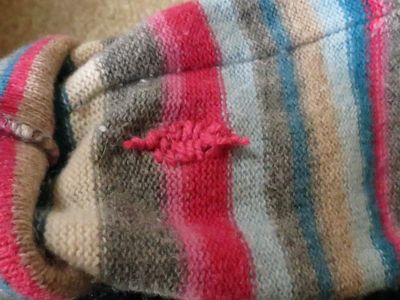 Repair - crochet elbow patch (5)