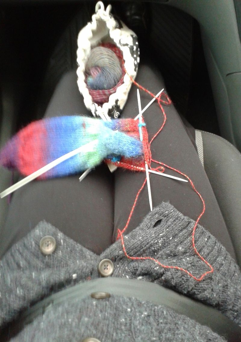 Knitted socks in Drops Delight (1)