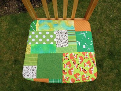 Patchwork kitchen chair cover (9)